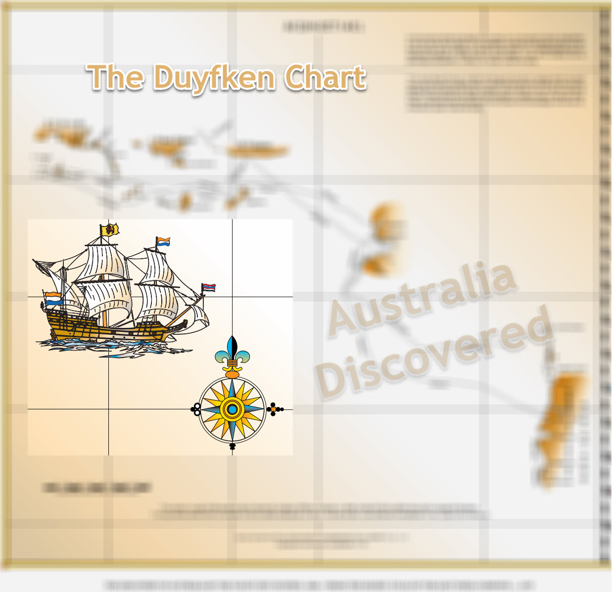 First Map Of Australia.The Duyfken Chart